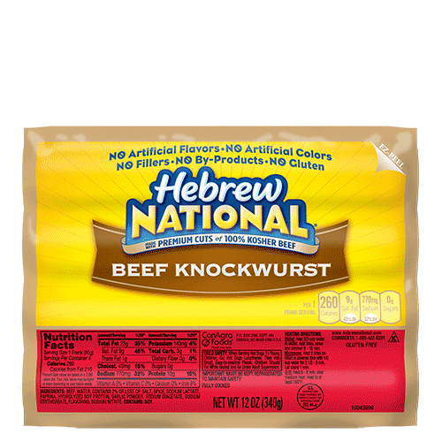 Hebrew National Hot Dog Nutrition  Fat Free