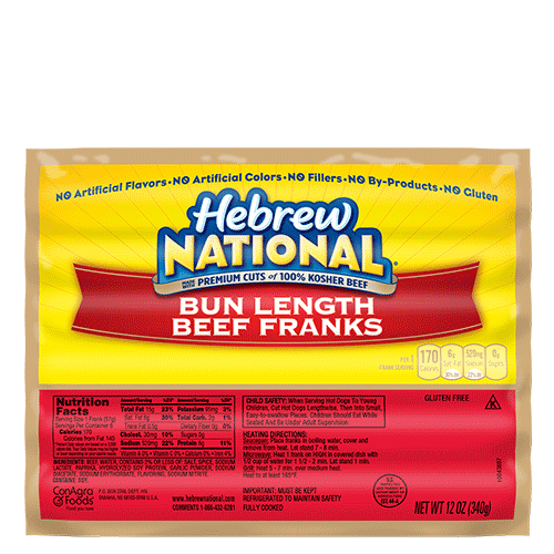 Hebrew National Hot Dogs Nutritional Information