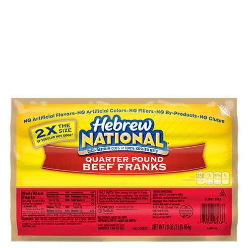 Quarter Pound All Beef Hot Dog Nutrition