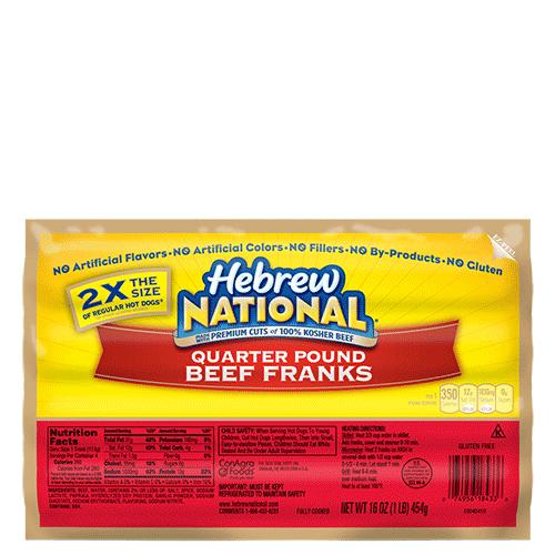 Hebrew national beef franks calories